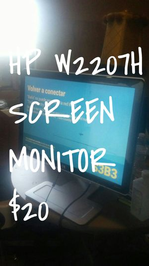 Hp w2207h monitor for Sale in Dallas, TX