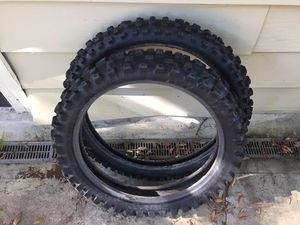 Front & rear dirt bike tire set for Sale in Orlando, FL