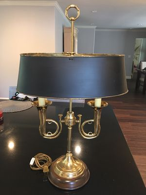 Bouillotte Two Horn Brass Table Lamp for Sale in San Jose, CA