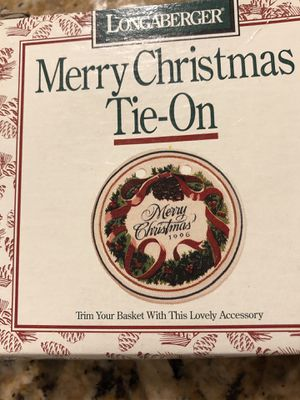 New Longaberger Merry Christmas Tie On 1996 for Sale in Buena Park, CA