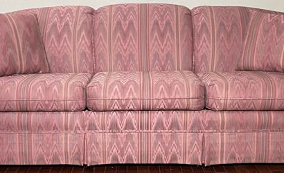 Schweiger Light Pink Polyester 3-Seat Couch w/ Full Size Hide-a-Bed for Sale in West Linn,  OR