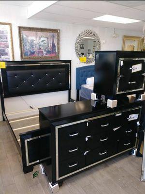 Allura Black LED Panel Bedroom Set byHomelegance 🍉📢 for Sale in Jessup, MD