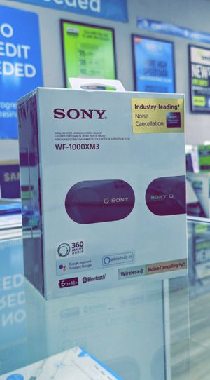 Sony - WF-1000XM3 True Wireless Noise Cancelling In-Ear Headphones - Brand New in Box for Sale in Arlington, TX