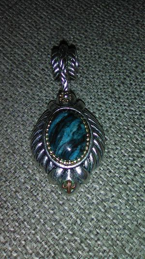 Sterling silver Real Blue Ageat Gemstone Charm. for Sale in Greensburg, PA