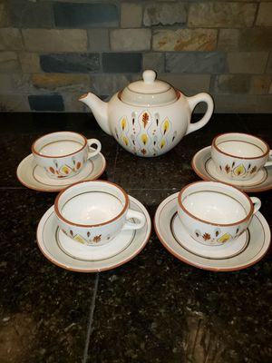 Vintage Stangl Amber Glo Teapot and Cups for Sale in Maple Valley, WA