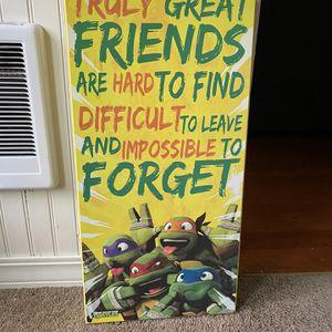 Ninja Turtle Wall Decor for Sale in Aberdeen, WA