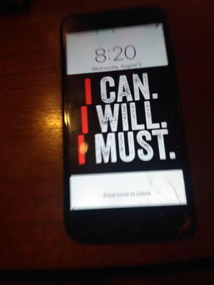 I phone 8s plus with screen protector for Sale in Tampa, FL
