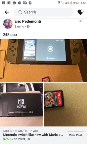 Nitendo switch for Sale in Van Wert, OH