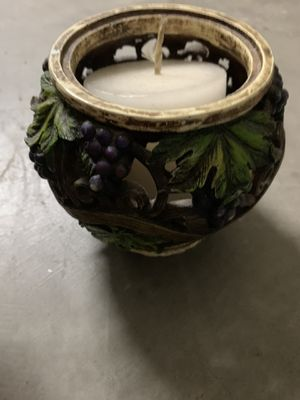 Grape themed candle holder for Sale in Spring Hill, FL