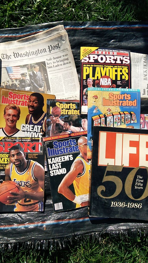 Sports illustrated and Life 50 years magazines