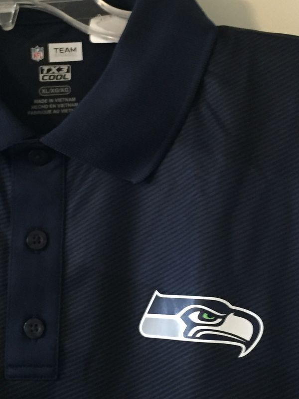 SEAHAWKS MEN'S POLO STYLE SHIRT (Size XL) NEW/Tags attached