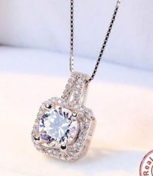 $10 new silver plated adjustable CZ necklace for Sale in Ballwin, MO