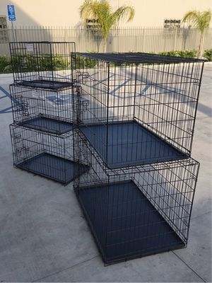 """New $25 to $65 range 24"""" 30"""" 36"""" 42"""" 48"""" foldable 2 doors dog cage crate kennel collapsible jaula de perro for Sale in Whittier, CA"""