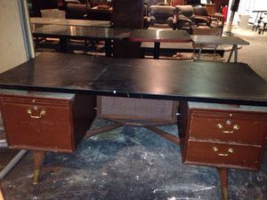 Beautiful design Victorian wood desk with black top for Sale in Caledonia, MI