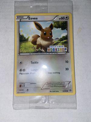 Pokemon Eevee 63/98 Build-A-Bear Special Edition Still In Wrapper for Sale in Mauldin, SC