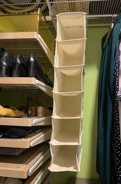 6 Shelf Hanging Fabric Shoe Organizer for Sale in Cambridge,  MA