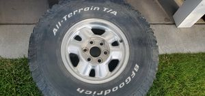 295 75 16 set of 4 rims with used tires for Sale in West Jordan, UT