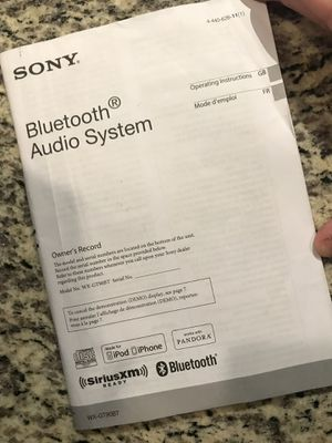 SONY BLUETOOTH AUDIO SYSTEM && JL AUDIO SPEAKERS for Sale in Murfreesboro, TN