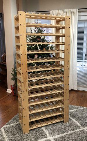 Wine Rack 112-bottle Unfinished Wood Like New $350+ for Sale in Alexandria, VA