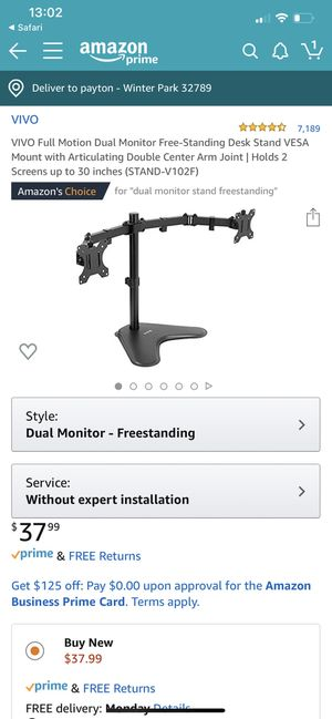 Dual Computer Monitor Stand for Sale in Winter Park, FL