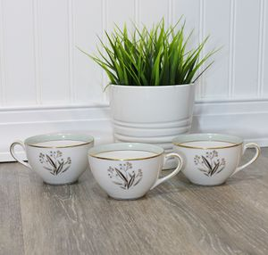 Noritake Carlisle Cups (3) VG++ Replacements No Saucer for Sale in Southampton, PA