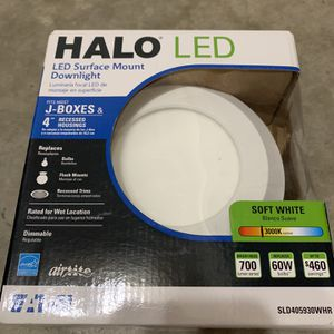 Halo LED Surface Mount Downlight (10) - 3000k Soft White for Sale in Portland, OR