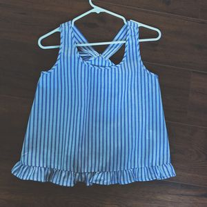 Blue & White Stripped Peplum Top for Sale in Robinson Township, PA