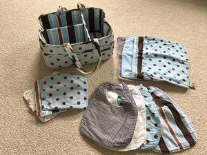 Trend Lab diaper caddy, burp cloths, wash cloths, bibs for Sale in Fairfax, VA