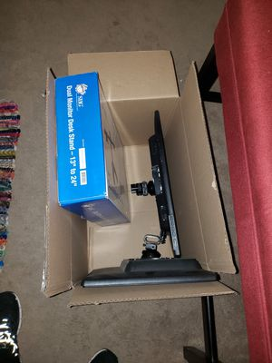 """2 17"""" hp monitors w/ dual stand for Sale in Pendleton, IN"""