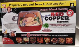 Red copper square pan for Sale in Katy, TX