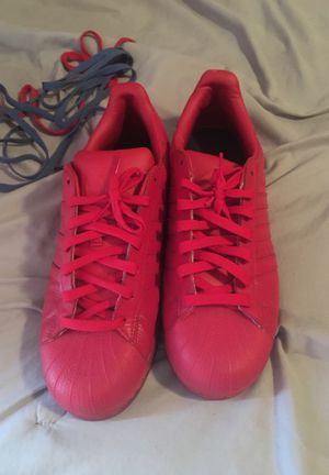 Adidas SuperStars Red 8/10 condition for Sale in Decatur, GA