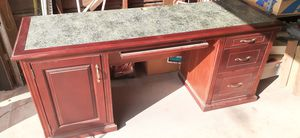 Free Office desk W/hutch, large Mirror, oil painting, battery powered drill. for Sale in Manteca, CA