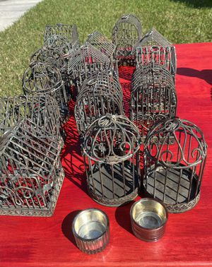 Bird cage tea light holders for Sale in Land O' Lakes, FL