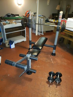 Standard weights and bench for Sale in North Olmsted, OH