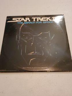 Star Trek 3 The Search For Spock Original Motion Picture Soundtrack 1984 Record Lp, Spock, Kirk, Shatner. for Sale in Fresno,  CA