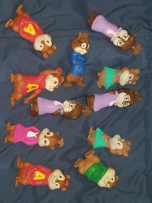 Lot of 11 rare vintage alvin and the chipmunks McDonalds happy meal collector toy set for Sale in Leominster, MA