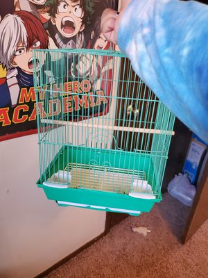 Cute little turquoise bird cage for Sale in Lincoln, NE