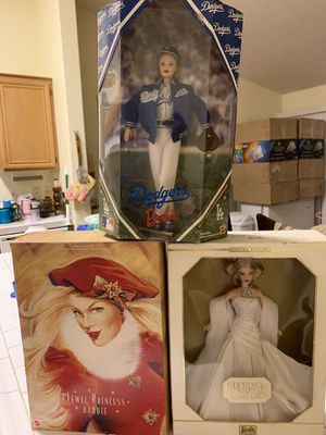 3 barbies Dodger barbie, jewel princess barbie, and duchess of diamonds barbie for Sale in Las Vegas, NV
