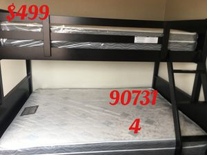 Twin/full bunk bed with mattresses. Assembly required. Assembly not included. Free delivery-$499.00 for Sale in Los Angeles, CA