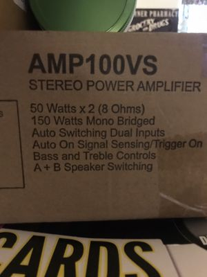 Audio source AMP 100VS stereo power amplifier for Sale in Bakersfield, CA
