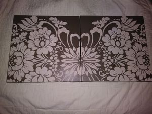 Two canvas and velvet wall hangings for Sale in Lemon Grove, CA