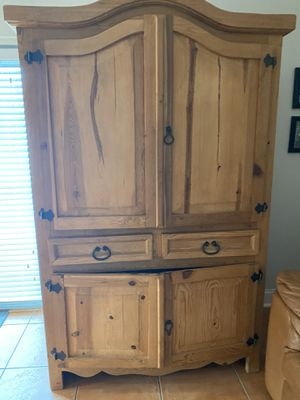 Rustic farmhouse style cabinet, 2 bookshelves & chest for Sale in Kendall, FL