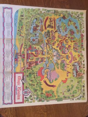 Vintage Magic Kingdom Wall Map - Mickey & Parade souvenir Disney for Sale in Pittsburgh, PA