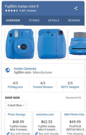 Fujifilm Instax Mini 9 Instant Film Camera for Sale in Fort Irwin, CA