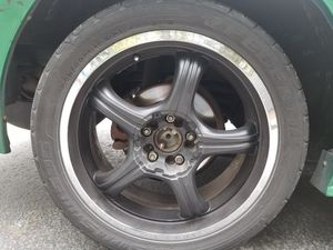 4 18in chrome rims with black plasti dip 4x114 for Sale in Port Orchard, WA