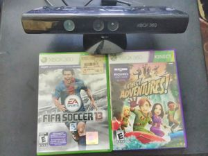 Xbox 360 Kinect camera bundle with games for Sale in Washington, DC