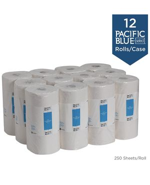 Pacific Blue Select 2-Ply Perforated Roll Paper Towel by Georgia-Pacific Pro, 250 Sheets Per Roll, 12 Rolls Per Case, White - 27700 for Sale in Edgewood, WA