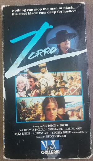 Zorro VHS Movie stars Alain Delon for Sale in Three Rivers, MI