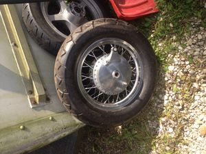 Suzuki S 50 rim and tire rim and tire will sell separate or together for Sale in Pikesville, MD