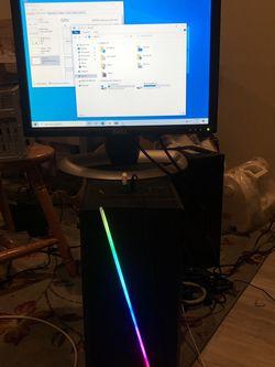Intel i3 mid tier gaming pc GTX 460 GPU/ 8Gb ram/ 500gb HDD hard drive/ Monitor included for Sale in Richland,  WA